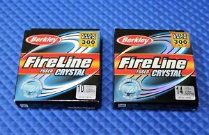 Berkley FireLine FUSED Crystal 300YD FL3010-CY Crystal CHOOSE YOUR LINE WEIGHT!