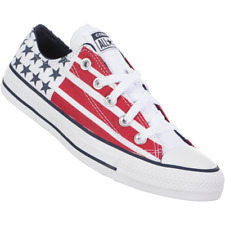 Converse Chuck Taylor all Stars Stripes Shoes usa american flag pr red blue low