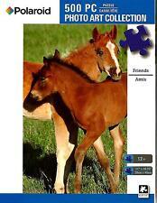 "Jigsaw Puzzle 500pc Polaroid Friends Horses 11""x 18-1/4"" NEW #TY57"