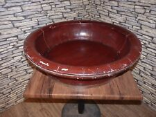 ANTIQUE VINTAGE WOODEN LAQUERD CHINESE BABY BATH OR FOOT BATH OLD IRON BANDS