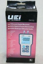 UEi EM152 Dual Differential Digital Manometer - NEW