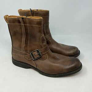 Timberland Earthkeepers anti fatigue leather boots mens 11.5 Brown side zip