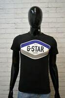 Maglia G-STAR Uomo Nera Taglia S Maglietta Cotone Shirt T-Shirt Polo Casual