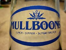 MULLBOONS drinking glass Salt Lake City goblet restaurant UTAH filet mignon OG