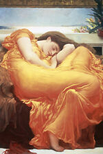 Flaming June poster! Sleeping Beauty Leighton nymph Death Never hung New!