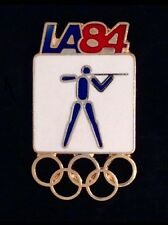 Shooting Olympic Pin Badge ~ Los Angeles ~ 1984 ~ LA~5 rings~NOS~New Old Stock