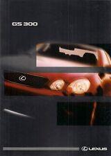 Lexus GS 300 & 300 SE 1998-99 UK Market Sales Brochure