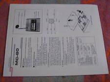 Kenwood MC-80 operating manual  for ham radio, copy