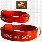 WOZA Premium Halsband Labrador Vollleder Lasche Sattlernaht Soft Rindnappa HG98D
