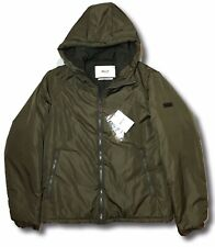 Bally Military Green Hooded Puffer Jacket Size US Large, EU 52 Made in Italy