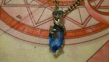 Final Fantasy Iv Blue crystal Pendant with necklace
