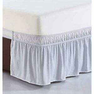 Hotel Luxury Collection QUEEN/KING Bedskirt Ruffled Wrap Around WHITE 336