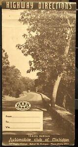 1940s Auto Club Of Michigan AAA Triptik To California VIA Route 66