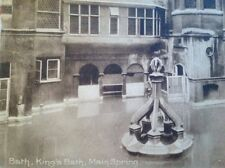 Main Spring, Kings Bath, Bath sepia card