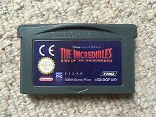 Los Increibles Rise of the contemplen-solo carro Game Boy Advance Gba