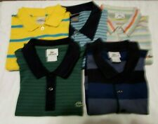 LOT of 5 LACOSTE Men's 6 / L Short Sleeve Multicolor Cotton Polo Shirts