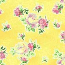 """29"""" Remnant Cottage Shabby Chic Mary Rose Sweet Charms MR2150-15C Yellow Fabric"""