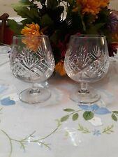 "Tiffany& Co Cyristal Newport 5""Brandy Snifter  Glasses Pair Very Beautifull"