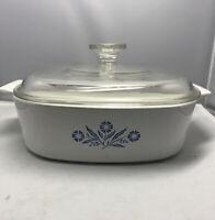 Corning Ware Blue Cornflower A-2-B -2L Casserole Dish & Pyrex Lid