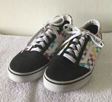 New listing Girl's Youth Vans Ward Party Lace Up Check Shoe, MissySz 4.5 - Black/White/Multi