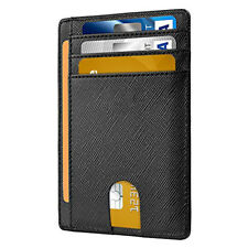 Slim Minimalist Front Pocket RFID Blocking Leather Wallets for Men&Women