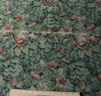 "Antique French 1910-30 Aubusson Style Jacquard Floral Tapestry Fabric~25""X24"""