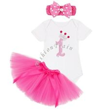 Baby Girl Birthday Minnie Romper Tutu Tulle Skirt Party Halloween Costume Outfit