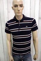 LACOSTE Uomo Taglia 4 / L Polo Cotone Casual Maglietta Maglia Manica Corta