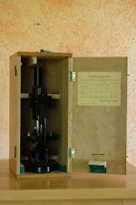 altes Mikroskop Holzasten Paul Waechter Potsdam