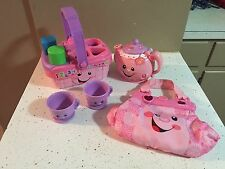 Fisher Price Laugh & Learn Sweet Sounds Picnic Basket Singing Tea Pot & Purse