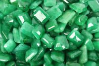 Natural Emerald Green Color Emerald Cut Loose Gemstone Lot