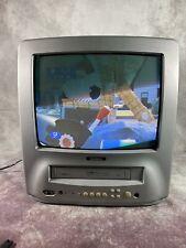 """Goodmans TVC146TWS 14"""" CRT TV & VHS VCR Video Combi Retro Gaming TV"""