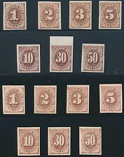 #J1-J7P3 & P4 COMPLETE SETS VF-XF PLATE PROOFS ON INDIA & CARDS CV $283 BS7742