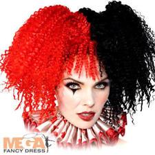 Jesterina Wig Ladies Halloween Fancy Dress Circus Horror Adult Costume Accessory