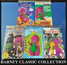 BARNEY CLASSIC COLLECTION (5 VHS LOT) SPACE, SCHOOL, ZOO, AROUND THE BLOCK, ETC