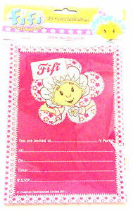 Fifi And The Flowertots 12 Pk Party Invitations New