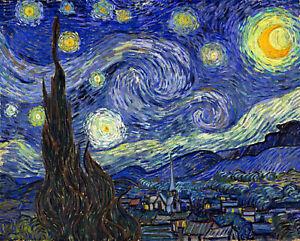 VINCENT VAN GOGH STARRY NIGHT ART PRINT POSTER