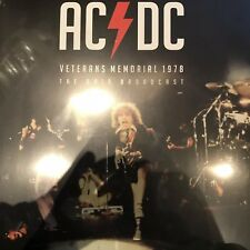 AC/DC - Veterans Memorial 1978 Ohio Broadcast 2 x Vinyl Lp - New & Sealed