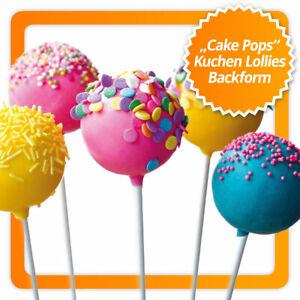 XXL Cake Pop Backform Silikon Cakepop Kuchenlollis Kuchen Lollies Lollis backen