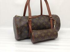 100% Authentic LOUIS VUITTON Monogram Papillon 30 Hand Bag Vintage Purse Set
