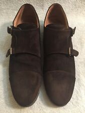 BUTTERO Monk Strip Made In Italy Suede Brown Oxford Men's Shoes Size EU 41.5
