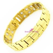 Magnet Magnetic Gold High Grade TITANIUM Energy Power Bracelet Health Bio Men's