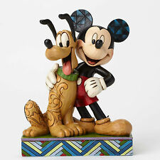 """JIM SHORE - DISNEY TRADITIONS / FEATURING MICKEY AND PLUTO / """"BEST PALS"""" / NIB"""