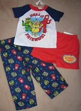 YO GABBA GABBA *Hello Friends!* 3pc S/S Shirt Pajamas Pjs sz 3T