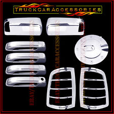For DODGE Ram 1500 2009-2016 Chrome Covers TOWING Mirrors+4 Door+Gas+Tail Lights