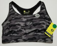 Xersion Women's Medium-support Bra Size 1X  Quick-dry Black Camo New with Tags