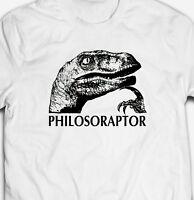 FUNNY PHILOSORAPTOR DINOSAUR JOKE INTERNET MEME 100% cotton Men's T-shirt TEE