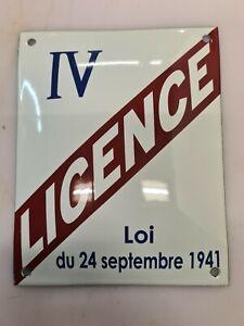 Plaque émaillée Licence IV