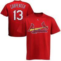 St. Louis Cardinals #13 Matt Carpenter Men's Cross Stitch Style Jersey Tee MLB