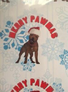 STAFFORDSHIRE BORDER TERRIER STAFFY CHRISTMAS GIFT WRAPPING PAPER DOGS MUM DAD
